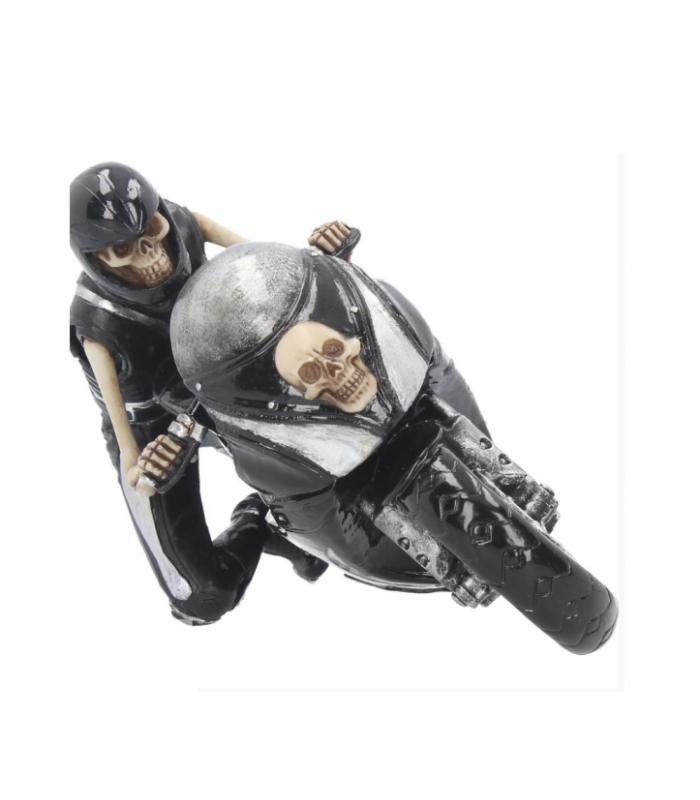 Statuina in Resina Teschio Speed 19 cm