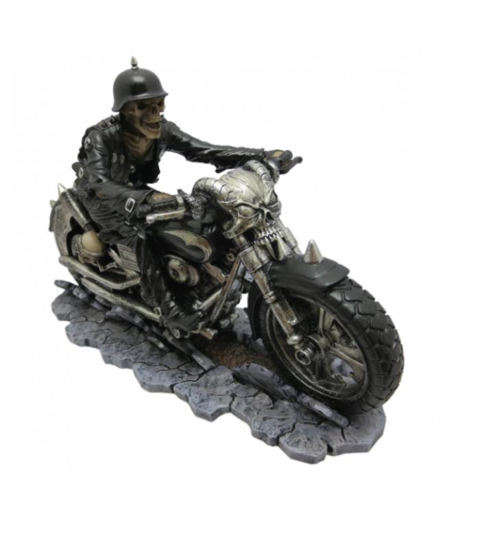 Statuina in Resina Teschio Raider 19 cm