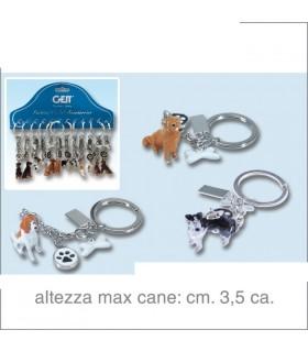 Portachiavi in Metallo a Forma di Cane Cartella da 12 pz. assortiti