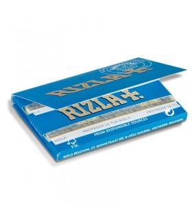Cartina Rizla corta Blu Doppia conf. 25 libretti da 100 cartine