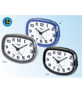 Sveglia al Quarzo in plastica con Luce Movimento Silenzioso e Funzione Snooze e Led