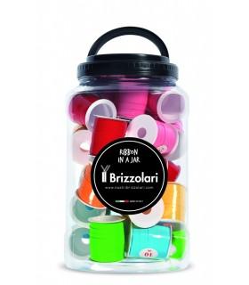 Rocchetti in PPL Brizzolari Lucidi 10mm per 10 metri colori Pastello assortiti in Barattolo da 30 pz.