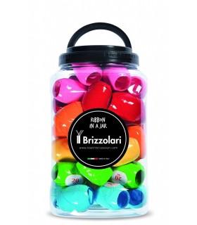 Nastro Lucido Brizzolari h.5x20 mt Barattolo da 40 pz. colori pastello assortiti