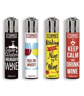 Accendino Clipper Large Wine Quotes  conf. da 48 pz. assortiti in 4 grafiche