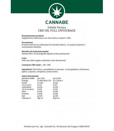 CBD Olio Full Entourage 3% 10 ml