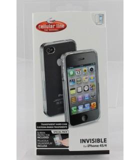 Custodia rigida trasparente  Cellular Line per i-Phone 4/4S
