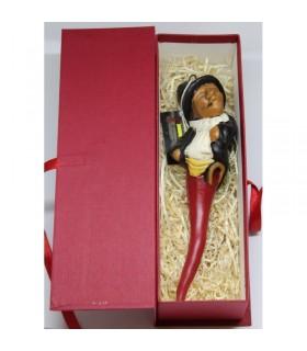 Gobbo corno in Terracotta H.21 cm Realizzato e dipinto a mano confezionato in scatola