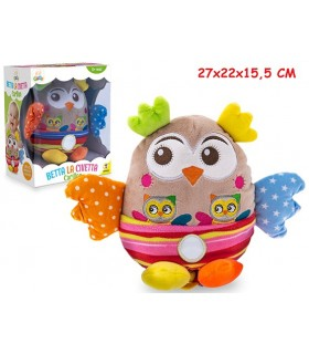 Peluche Betta la Civetta Multicolor con Carillion