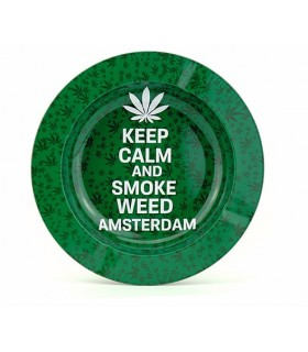Posacenere in Metallo Amsterdam Keep Calm
