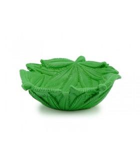 Posacenere in Ceramica a Forma di Foglia Cannabis