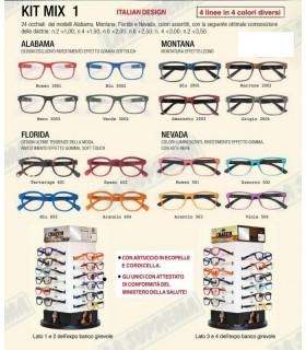 Occhiali da Lettura El Charro Kit Mix 1 Expo girevole 24 pz. assortito con 4 modelli