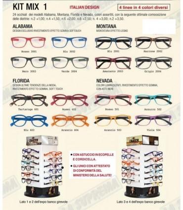 Occhiali da Vista El Charro Mix 1 Expo girevole 24 pz. assortito con 4 modelli