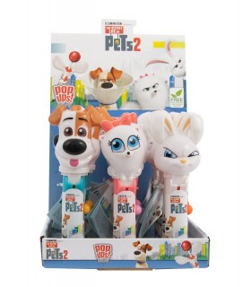 LOLLIPOP PETS 2  10g EXPO 12 PZ. ASSORTITO CON 3 PERSONAGGI
