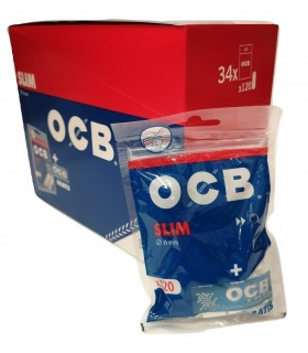 Filtrini OCB Slim 6mm. in Busta con Cartina OCB Blu X-Pert conf. 34 buste
