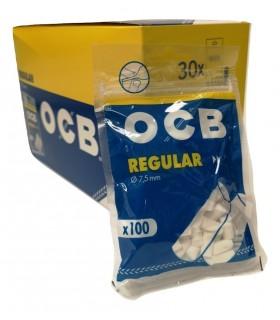 Filtrini OCB regular 8mm. in bustina conf. 30 bustine da 100 filtri
