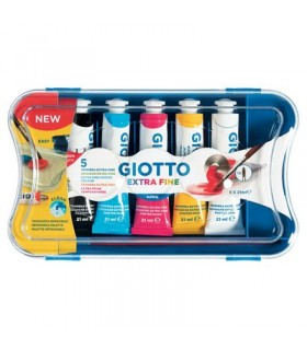Scatola Tempere Giotto 5pz. tubetto da 21ml