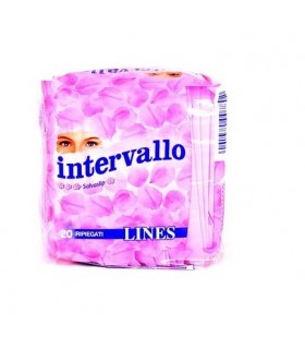 Lines Intervallo Ripiegati Fresh Salvaslip 20 pz.