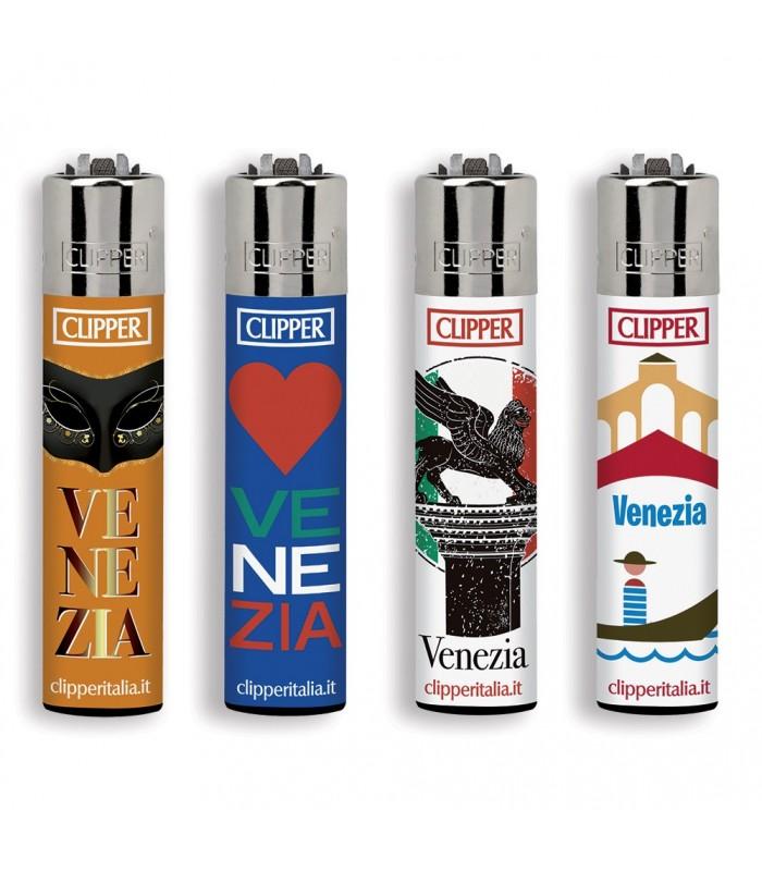Accendino Clipper Large Souvenir Venezia conf. 48 pz. assortiti con 4 grafiche