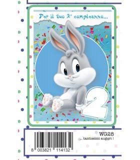 Biglietto Marpimar Compleanno Warner Bros 2 Anni conf. 6 pz. monosoggetto