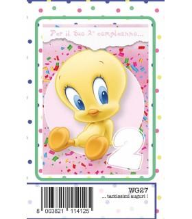 Biglietto Marpimar Compleanno Warner Bros 2 Anni Bambina conf. 6 pz. monosoggetto
