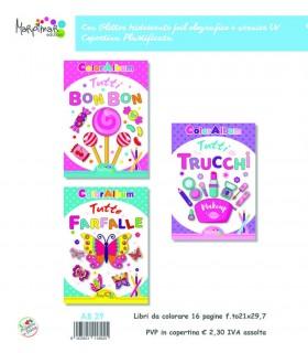 3 Libri da Colorare Marpimar da 16 Pagine assortiti ( Pesti - Pista - Miss Fashion - Clown)