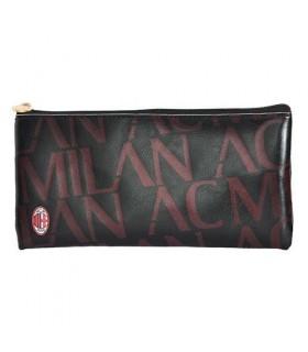 Portapenne in Ecopelle A.C Milan con Zip
