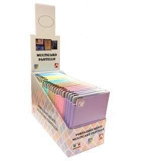 Portadocumenti Multiplo Carta D'identità Patente e Tessera sanitaria conf. da 24 pz. assortito con 6 colori Pastello