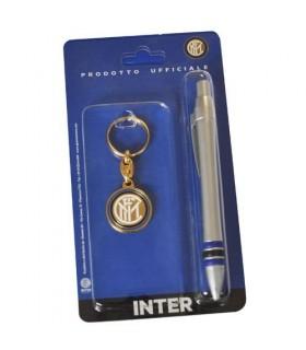 Set Penna e Portachiavi con Logo Inter