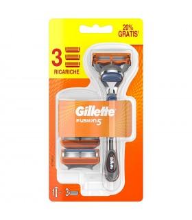 Rasoio Gillette Fusion 5 con 3 Ricariche