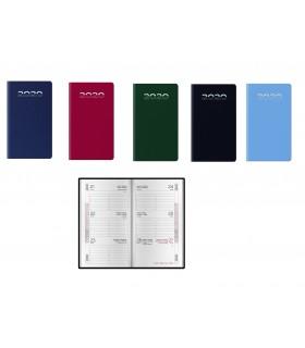 Agenda Settimanale mis.8x14 Mod. Gommato Disponibile in 4 colori
