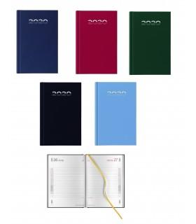 Agenda Giornaliera mis.14.5x20.5 Mod. Gommato Disponibile in 4 colori