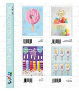 Biglietto Marpimar Compleanno Sweet conf. 12 pz. assortiti