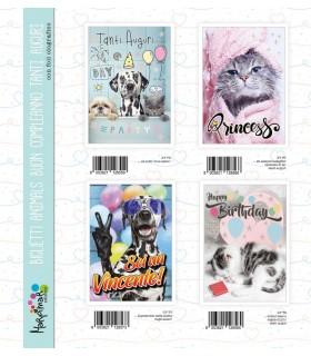Biglietto Marpimar Compleanno Animals conf. 12 pz. assortiti