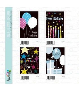 Biglietto Marpimar Compleanno Happy Birthday conf. 12 pz. assortiti