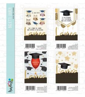 Biglietto Marpimar Laurea cpn foil rosso conf. 12 pz. assortiti