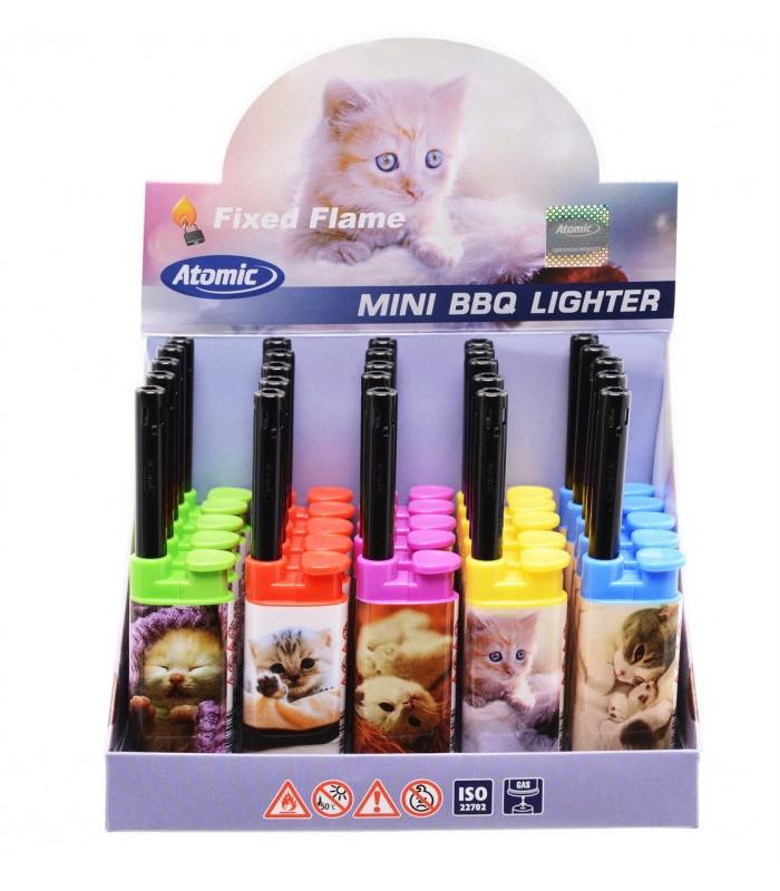 Accendigas Atomic BBQ Cats Expo da 25 pz. assortito con 5 grafiche