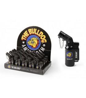 Accendino Turbo THE BULLDOG Solid Black Expo 20 pz.