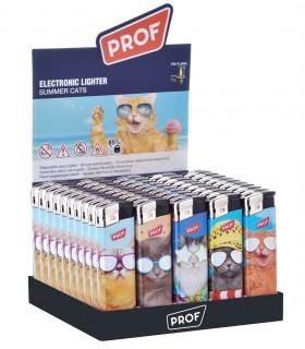Accendino Elettronico Prof Cats conf. 50 pz. assortito con 5 fantasie