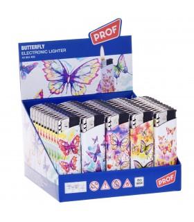 Accendino Elettronico Prof Butterfly conf. 50 pz. assortito con 5 fantasie