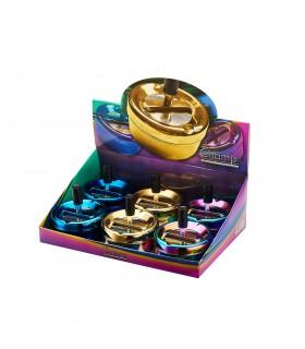 Posacenere in Metallo Champ Shiny a Pressione conf. 6 pz. colori assortiti