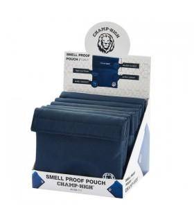 Busta Portatabacco  Champ Tessuto con doppia chiusura a strappo conf. 6 pz. colore Blu