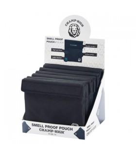Busta Portatabacco  Champ Tessuto con doppia chiusura a strappo conf. 6 pz. colore Nero