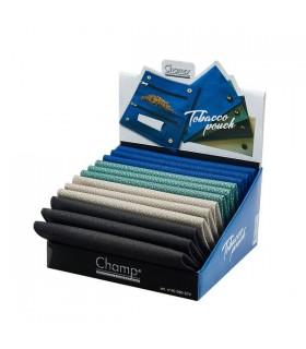 Busta Portatabacco Champ  in Tessuto morbido con Zip Expo da 12 assortito con 4 colori