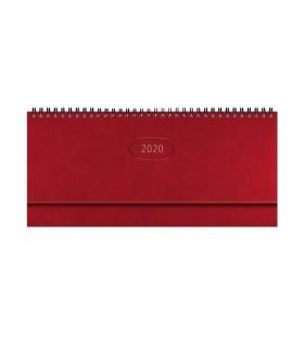 Planning da Tavolo Settimanale mis.29.8x10.5 Mod. Madrid colore rosso Inglese