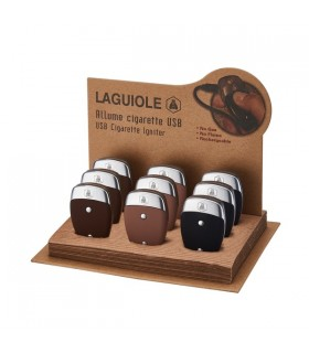 Accendino Elettronico Laguiolle con Ignitore e ricarica USB Expo da 9 pz. colori assortiti