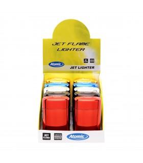 Accendino Elettronico Atomic Blue Jetflame conf. 20 pz. assortito con 4 colori