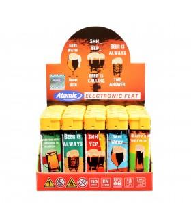 Accendino Elettronico Atomi Beer conf. 50 pz. assortito con 5 fantasie