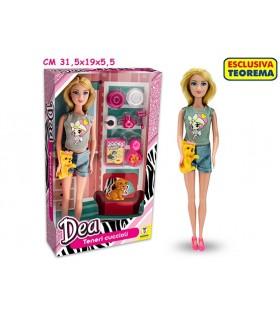 Bambola Dea Tolettatura con accessori H.28 cm