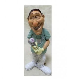 "Caricature Mestier""Dentista"" H. 15 cm"