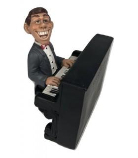 "Caricatura Mestieri ""Il Pianista"" H. 15 cm."